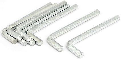 Silver Tone Metal 6mm Inner Hexagonal Spanner Hex Key Wrench