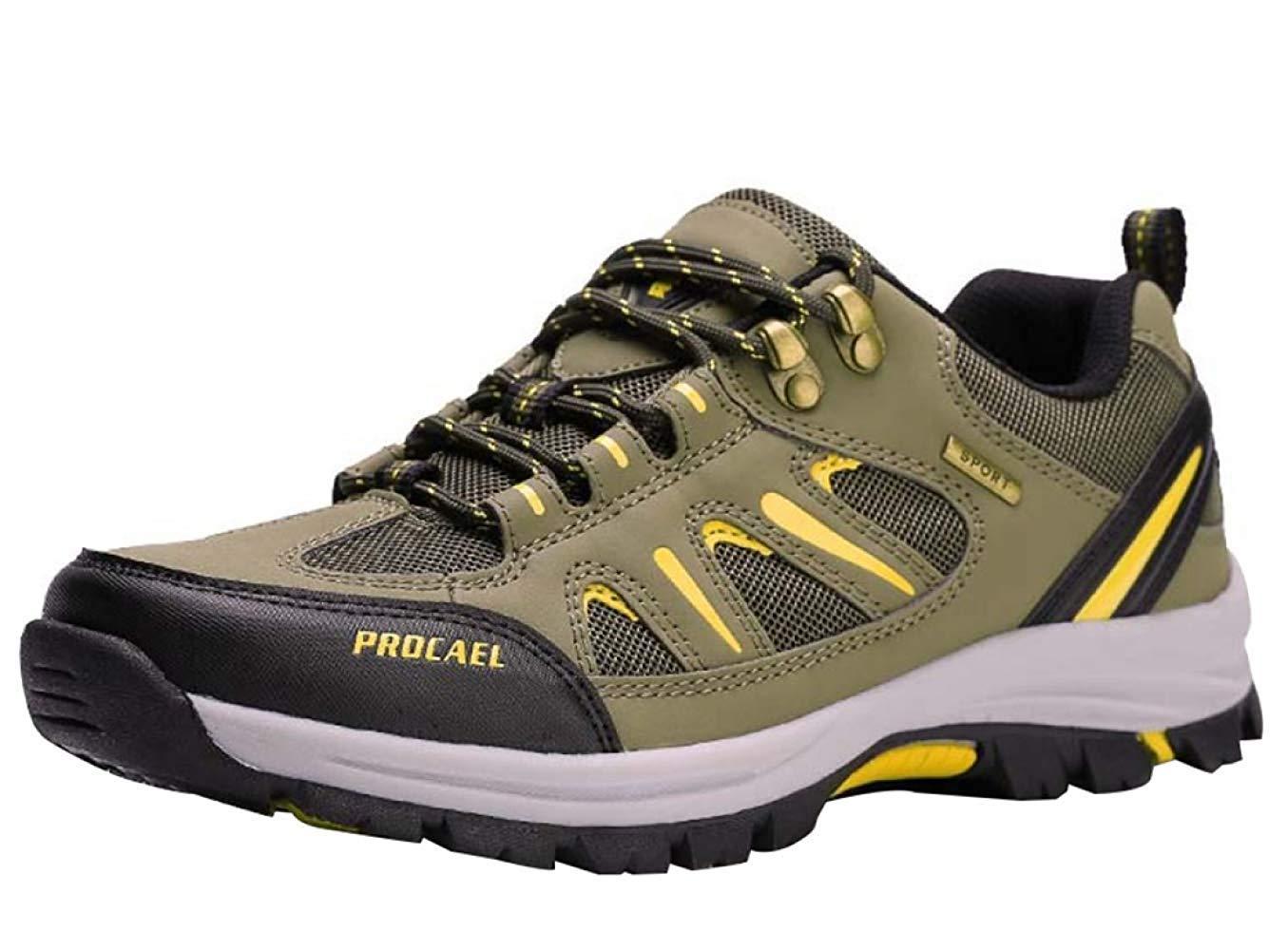 HhGold Männer Wanderschuhe Stiefel Leder Wanderschuhe Turnschuhe Für Outdoor Trekking Training Beiläufige Arbeit (Farbe : 1, Größe : 40EU)