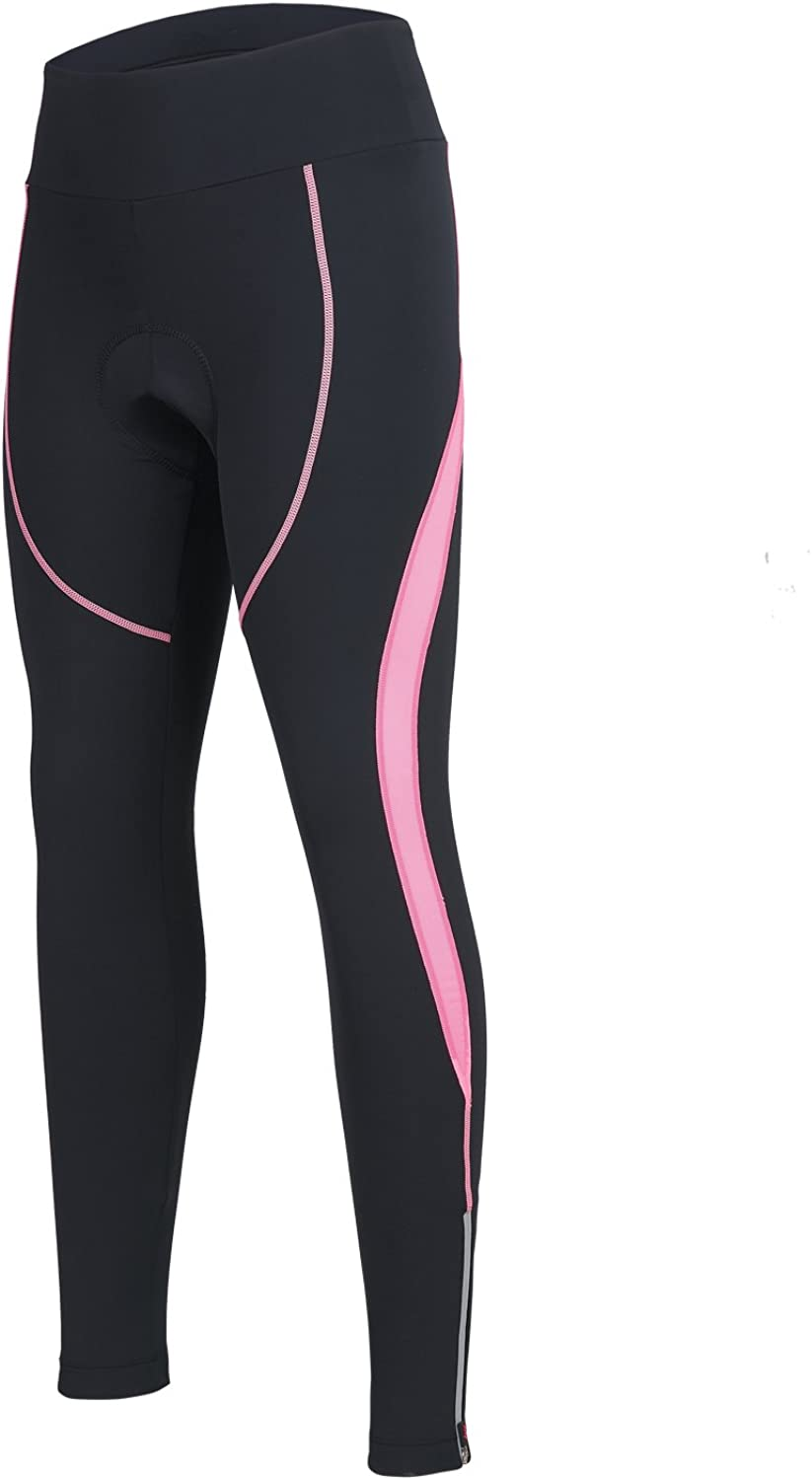 Women's Cycling Pants 3D Padded Compression Tight, Long Bike Bicycle Pants with Wide Waistband : Clothing