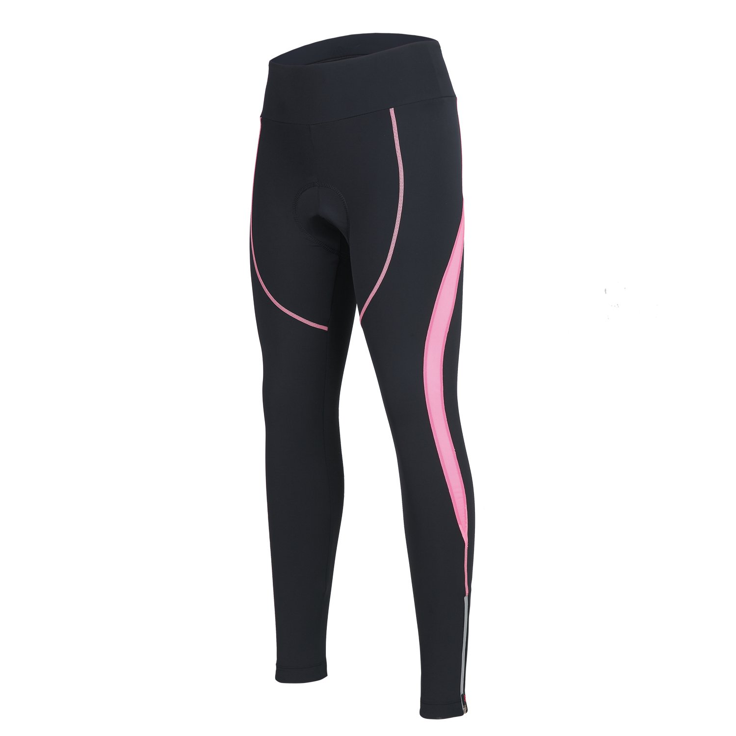 Women's Cycling Pants 3D Padded Compression Tight, Long Bike Bicycle Pants with Wide Waistband (Orchid Pink,L) by SPOEAR