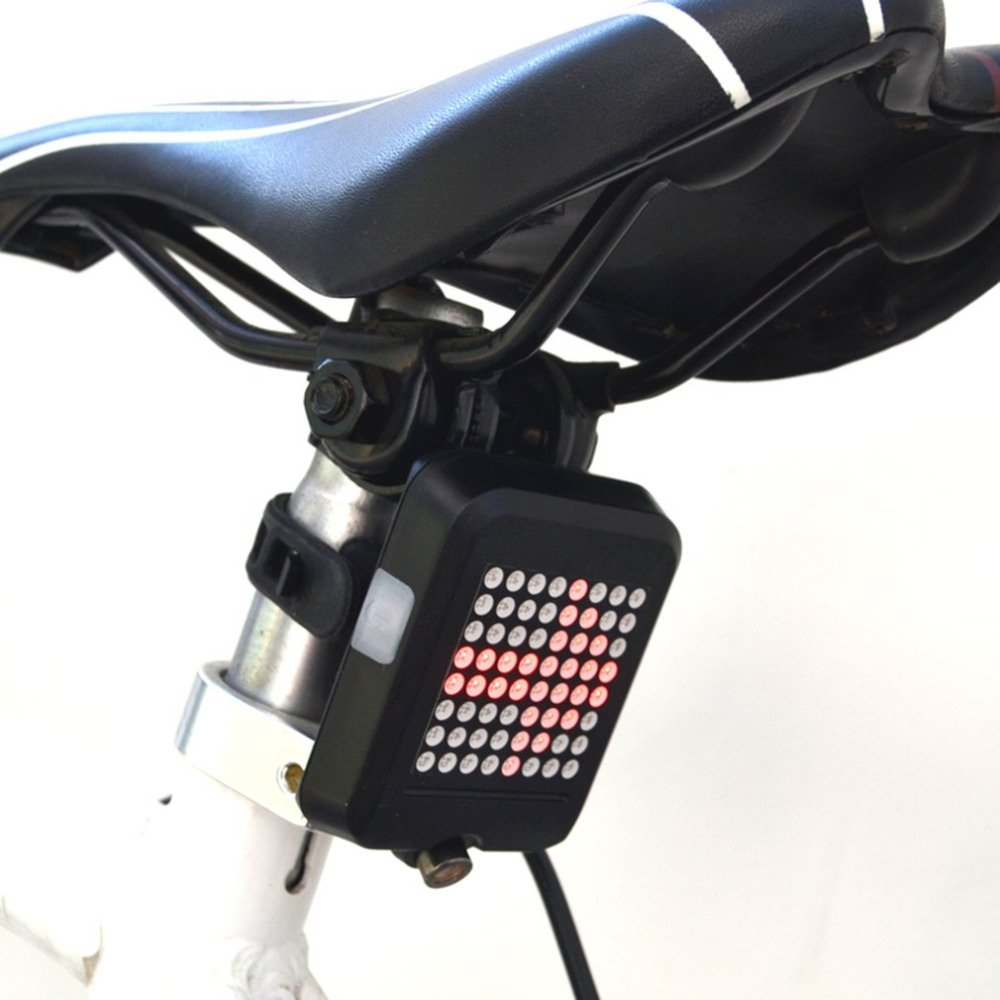 T603B USB Rechargeable Wireless Bicycle Tail Light Gravity Sensing Direction Turn Warning