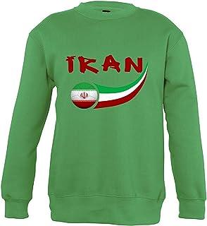 Supportershop 6Sweatshirt Iran 6Unisex Bambino, Verde, Fr: M (Taglia Produttore: 6Anni)