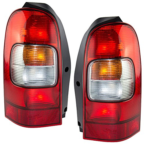 Driver and Passenger Taillights Tail Lamps Replacement for Chevrolet Oldsmobile Pontiac Van 10353279 19206746 -