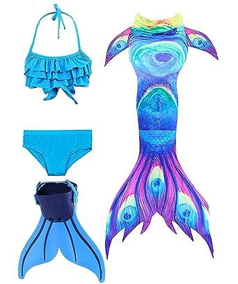 c77bbb6eca ShePretty Mermaid Tail with Monofin for Kids: Amazon.co.uk: Clothing