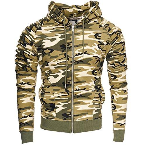 Camouflage Modello Hoodie NEW Zip Kayhan YORK Uomo Brown Hoody Eqpwt10