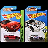 Hot Wheels 2016 and 2015 '96 Nissan 180SX Type X in Red and White SET OF 2 WITH PROTECTORS