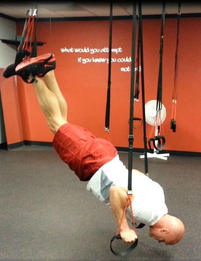 WOSS - Correa para ejercicios en suspensión (incluye anclajes), color gris