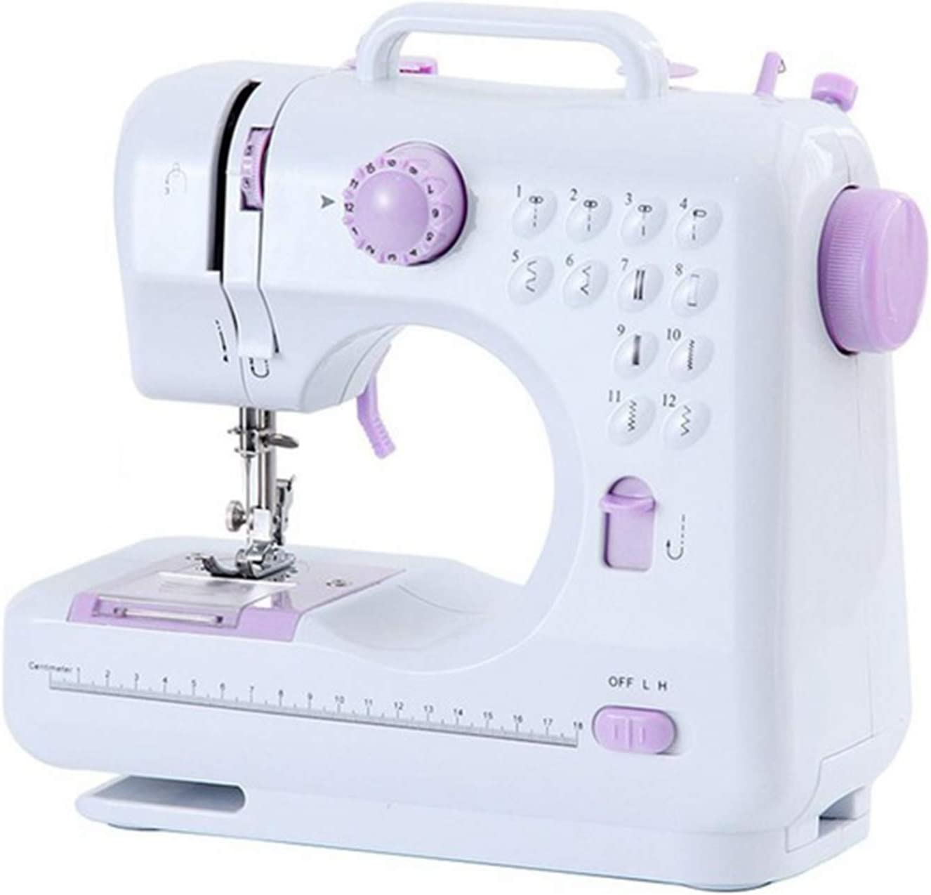 NDHENG Mini Sewing Machine (Including Extension Table and Sewing Supplies Set) - Small Electric Overlock Sewing Machines with 2 Speed 12 Built-in Stitch Patterns