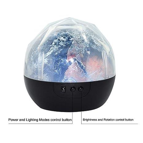 Noche Luz Planeta Mágico Proyector Tierra Universo Led Lámpara ...