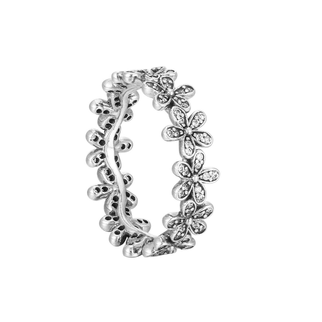 6ed5f4eb0 Amazon.com: Pandora Ring Dazzling Daisy Meadows with Clear CZ (190934CZ):  Jewelry