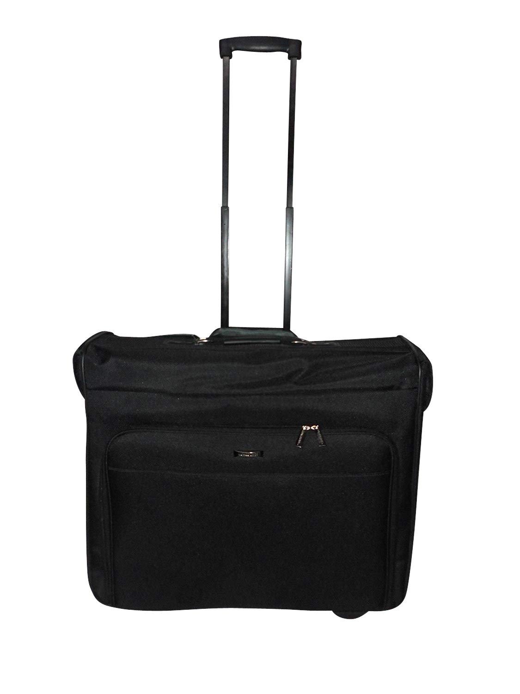 Garment bag on Wheel,garment Travel bag suitcase with inside bracket,Black.