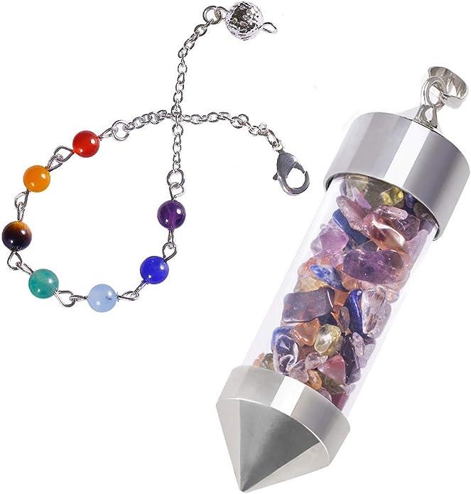 1pc Ball Turquoise Divination Chakra Pendulum Healing Point Reiki Chain Pendant