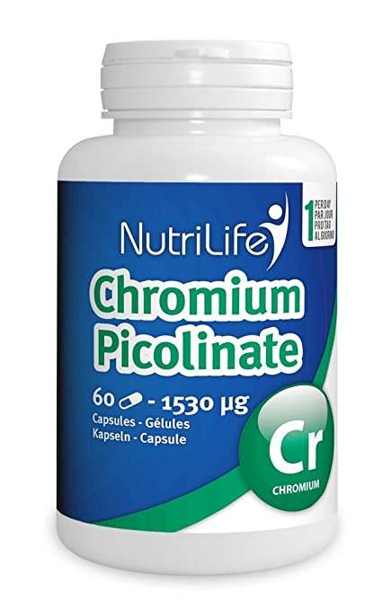 Picolinate de chrome-60 Cápsulas vegetales - 185 mcg: Amazon ...