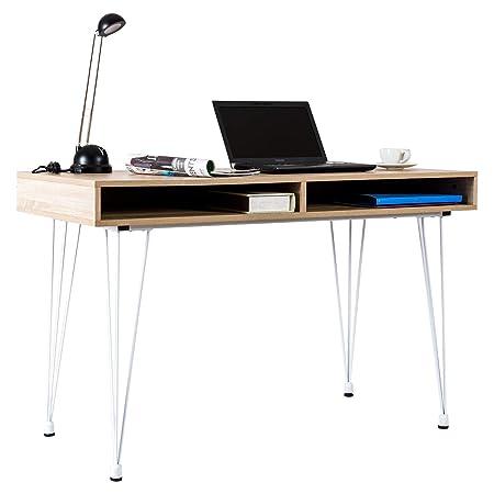 Goplus - Escritorio para Ordenador con 2 cajones, Mesa para ...