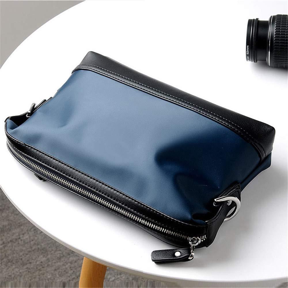 Män dator portfölj business portfölj Oxford tyg axel diagonal väska herr väska business bröstväska axel diagonal herr laptop axelväska (färg: svart) BLÅ