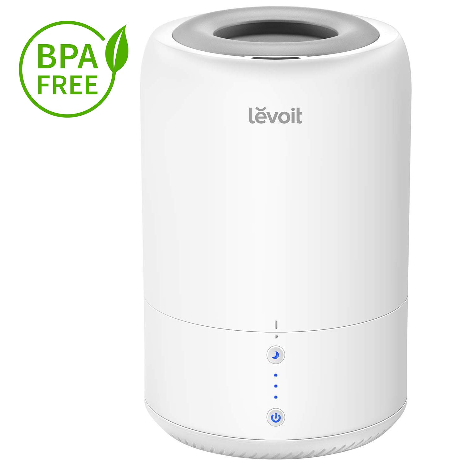 LEVOIT Humidifiers for Bedroom, Top Fill Cool Mist Cold Air Ultrasonic Humidifier Essential Oil Diffuser for Home, Babies Room, Smart Sleep Mode, Long Lasting, Auto Shut Off(1.8L/0.48Gal) by LEVOIT