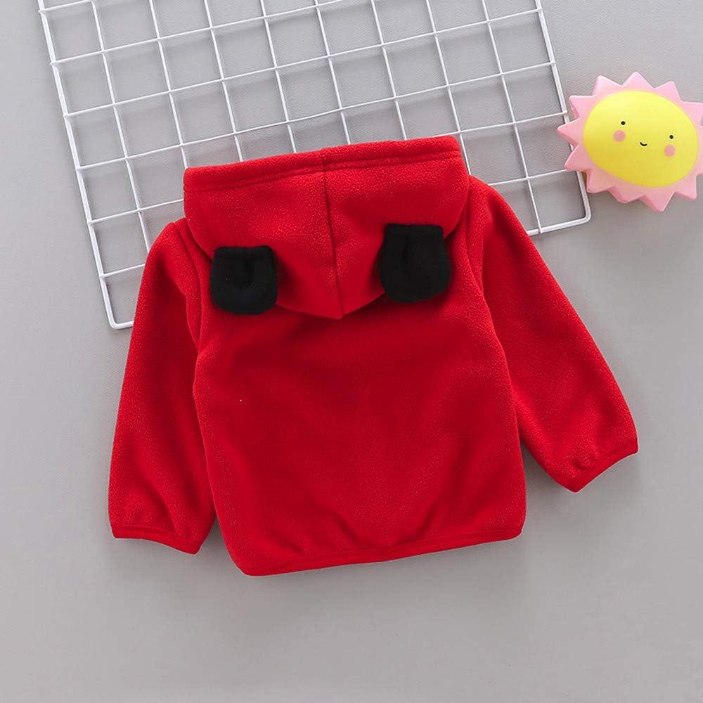 Winter Kid Coat,Fineser Cute Toddler Baby Boy Girl Long Sleeve Hoodie 3D Ears Fleece Coat Warm Jacket Ourwear Clothes