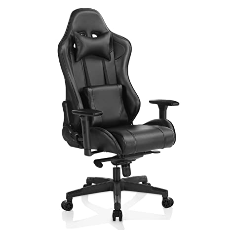 Gaming Chair con Reposapiés Grande y Grande High Back ergonómico Escritorio Silla PC Office Racing S