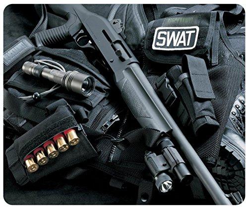 Guns Swat Shotguns Customized Rectangle Mousepad, Mouse Pad