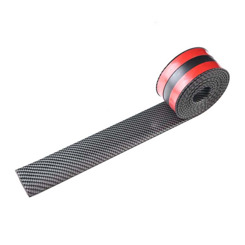 Baosity 100'' Car Body Kit Bumper Strip Lip Guard Door Edge Protector Stickers Made of Durable Rubber