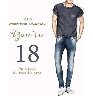 Happy 18th Birthday Card For A Wonderful Grandson