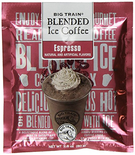 UPC 642628016126, Big Train Blended Ice Coffee, Espresso, 2.8-Ounce Bags (Pack of 25)