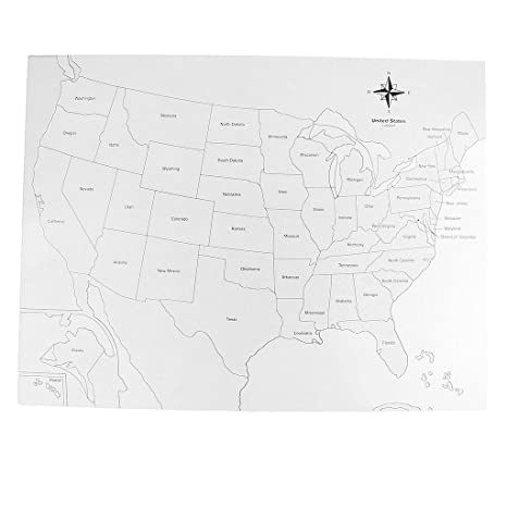 Flameer Montessori Geography Material USA Control Map for Children ...