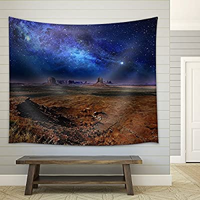 Starry Night Sky Over The Monument Valley Fabric Wall, Professional Creation, Delightful Style