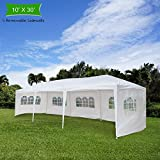Cheap Crazyworld 10′ x 30′ Outdoor Canopy Wedding Party Tent with 5 Removable Sidewalls and Zippered Door,Upgraded Thicken Tube Sun Shelter SHED Gazebo Pavilion Garden Pool EVENT
