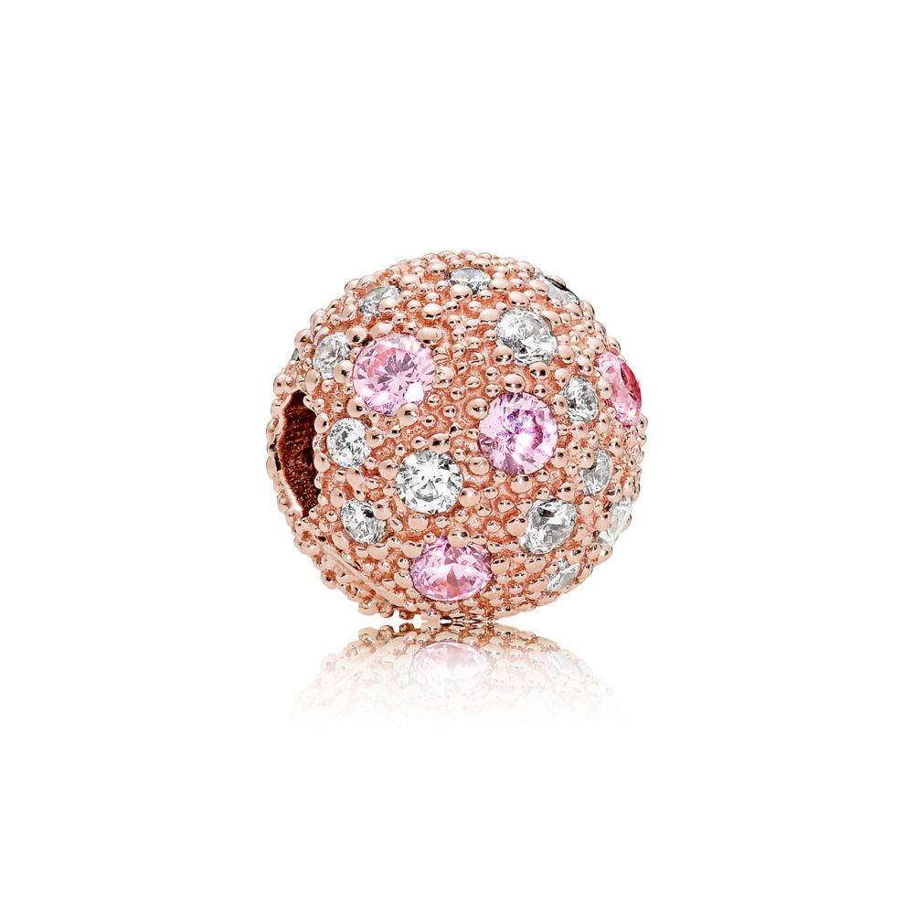 Pandora Rose Pink Cosmic Stars Clip Charm 781286PCZ