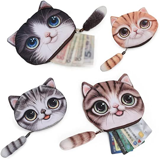 Amazon.com: Lui sui- Nueva Moneda Monederos cartera Cute Cat ...