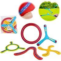 deAO 5-Delige Kleurrijke All Style Returning Boomerang Sports Game Toy Voor Beginners En Jonge Werpers