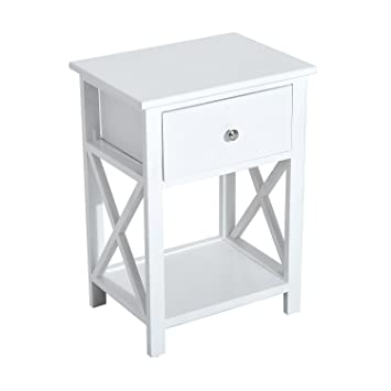 Nachttisch mit schublade  Amazon.de: Homcom® Nachttisch Telefontisch Beistelltisch ...