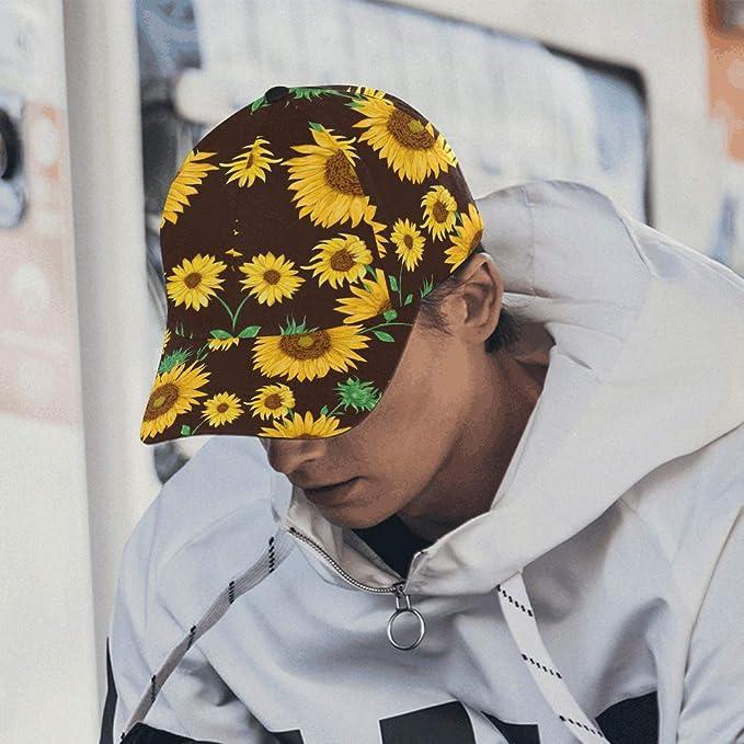 Gorra para Hombres Gorras de Girasol pintadas Populares de Girasol ...
