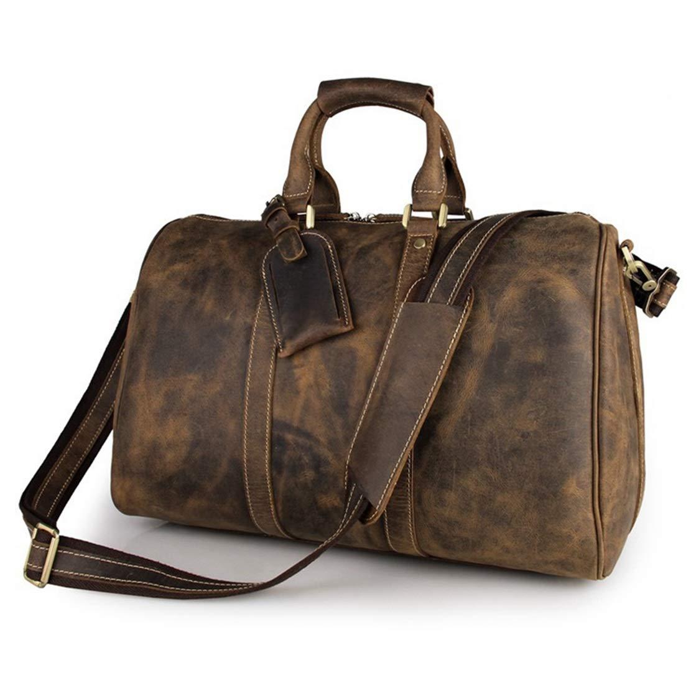 FELICIAAA レザーメンズ荷物袋ハンドショルダーバッグメッセンジャーバッグビジネスカジュアルモデル (Color : Dark brown) B07MTCCVFS Dark brown