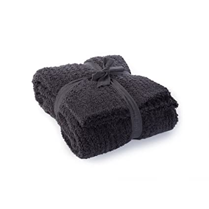 Amazon Barefoot Dreams CozyChic Ribbed Throw Blanket Carbon Adorable Charlotte Ruffled Throw Blanket