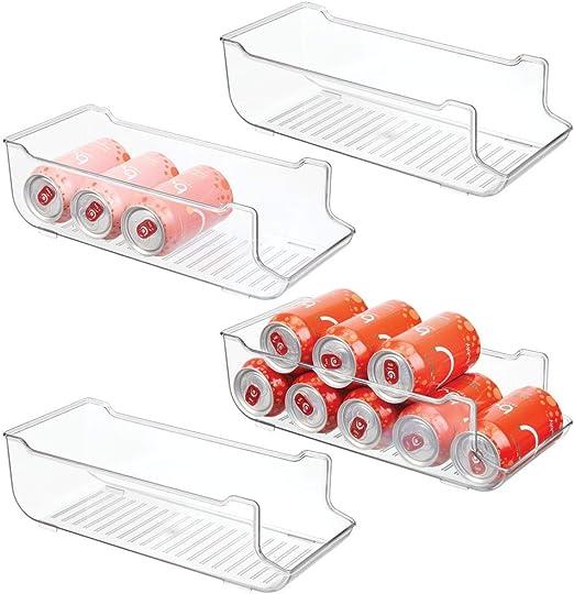 mDesign Juego de 4 cajas de almacenaje para frigorífico y armarios ...