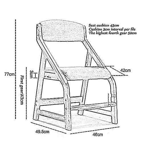 Amazon.com: Childrens Study Chair, Prevent Myopia Pure ...