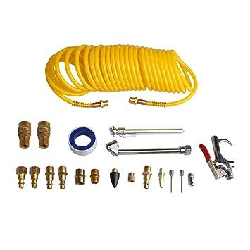 BQLZR Kit de accesorios para polvo de cobre con bobina de 25 pies boquillas de manguera