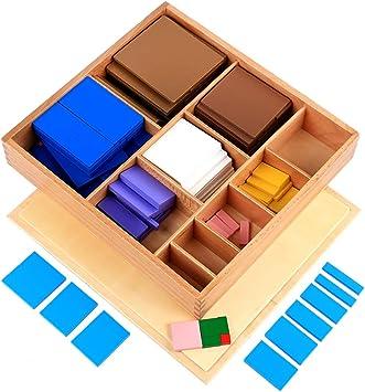 Juego de Mesa Cuadrado de Madera Decimal Group, versión Montessori ...