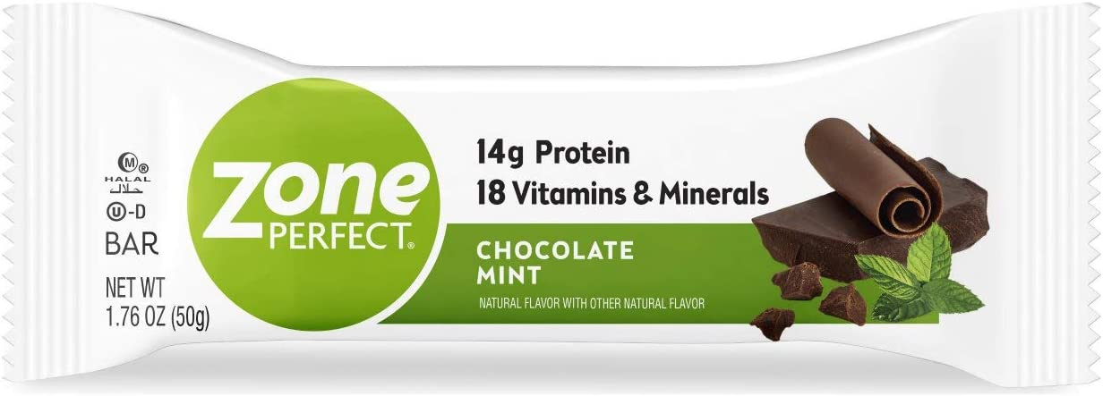ZonePerfect Protein Bars, Chocolate Mint, 14g of Protein, Nutrition Bars With Vitamins Minerals, Great Taste Guaranteed, 36 Bars