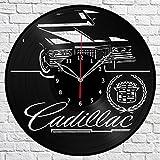 Cadillac Vinyl Record Wall Clock Fan Art Handmade Decor Unique Decorative Vinyl Clock 12″ (30 cm)
