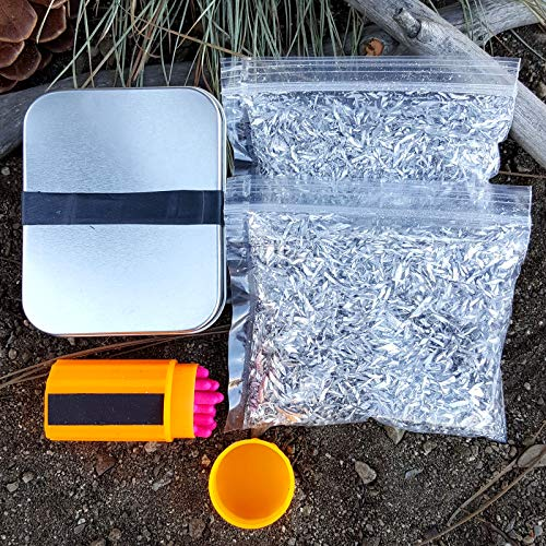 - Kaeser Wilderness Supply Ultimate Fire Starting Survival Kit Magnesium Chips Windproof Matches in a Tin Burns Super Hot