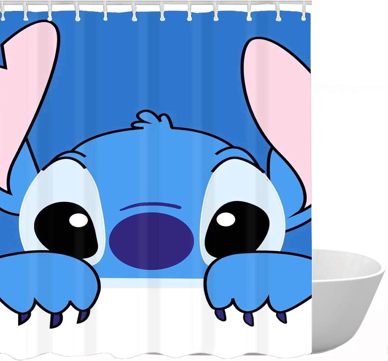 ClSCZLprints Funny Stitch Shower Curtain,Boys Bathroom Decor Sets,Waterproof Polyester Fabric Decorative Bathroom Bath Curtains 60 x 72 inches