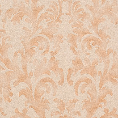 Star Fade Tan/Bronze Damask Vinyl Wallpaper For Walls - Double Roll - By Romosa Wallcoverings by Romosa Wallcoverings