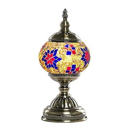 Lámpara de mesa de mosaico turco con lámpara de escritorio ...
