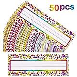 50 Pieces Self Adhesive Confetti Desk Name Plates