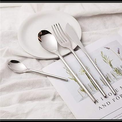 ZL tableware De Acero Inoxidable Cuchillo Y Tenedor De Acero ...