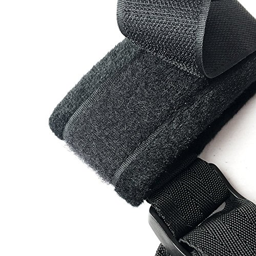 Violet Jewelry Bed Restraints Nylon Bondage BDSM Game Yoga Strap (BLACK1)