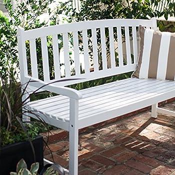 Amazon Com Vifah V1343 Bradley Outdoor Wood Bench